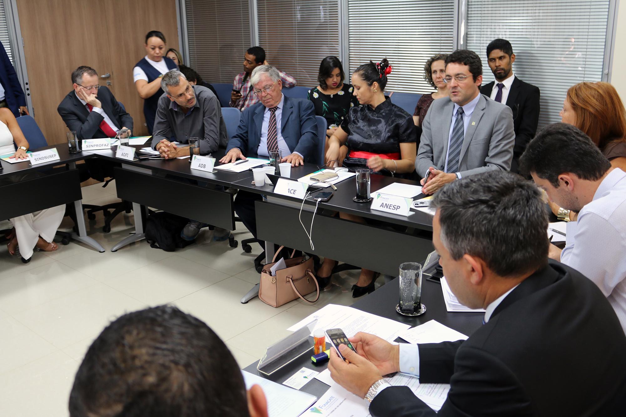 Presidente da ANESP, Alex Canuto, durante encontro. Foto: Filipe Calmon / ANESP