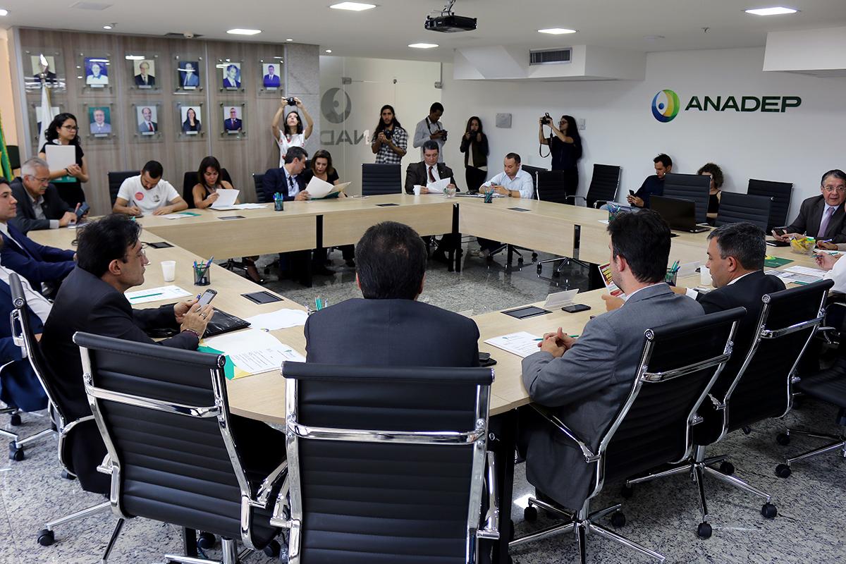 Reunião do Fonacate foi realizada na sede da ANADEP, no Setor Bancário Sul. Foto: Filipe Calmon / ANESP