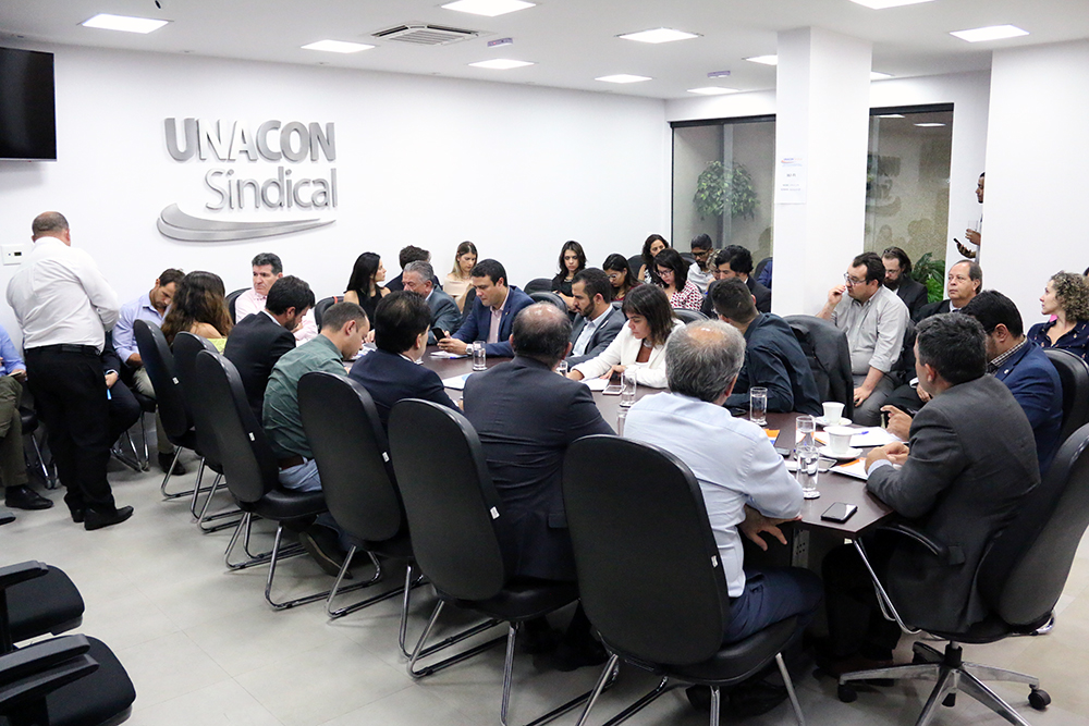 Reunião foi realizada na sede da Unacon Sindical, em Brasília. Foto: Filipe Calmon / ANESP