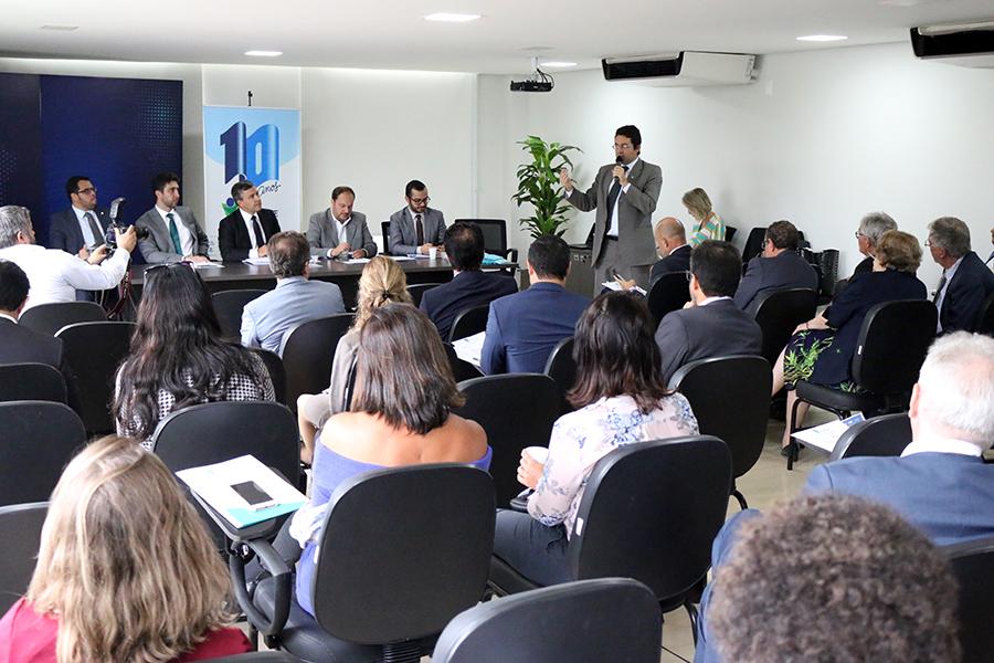 Presidente da ANESP, Alex Canuto, durante encontro do Fórum. Foto: Filipe Calmon / ANESP