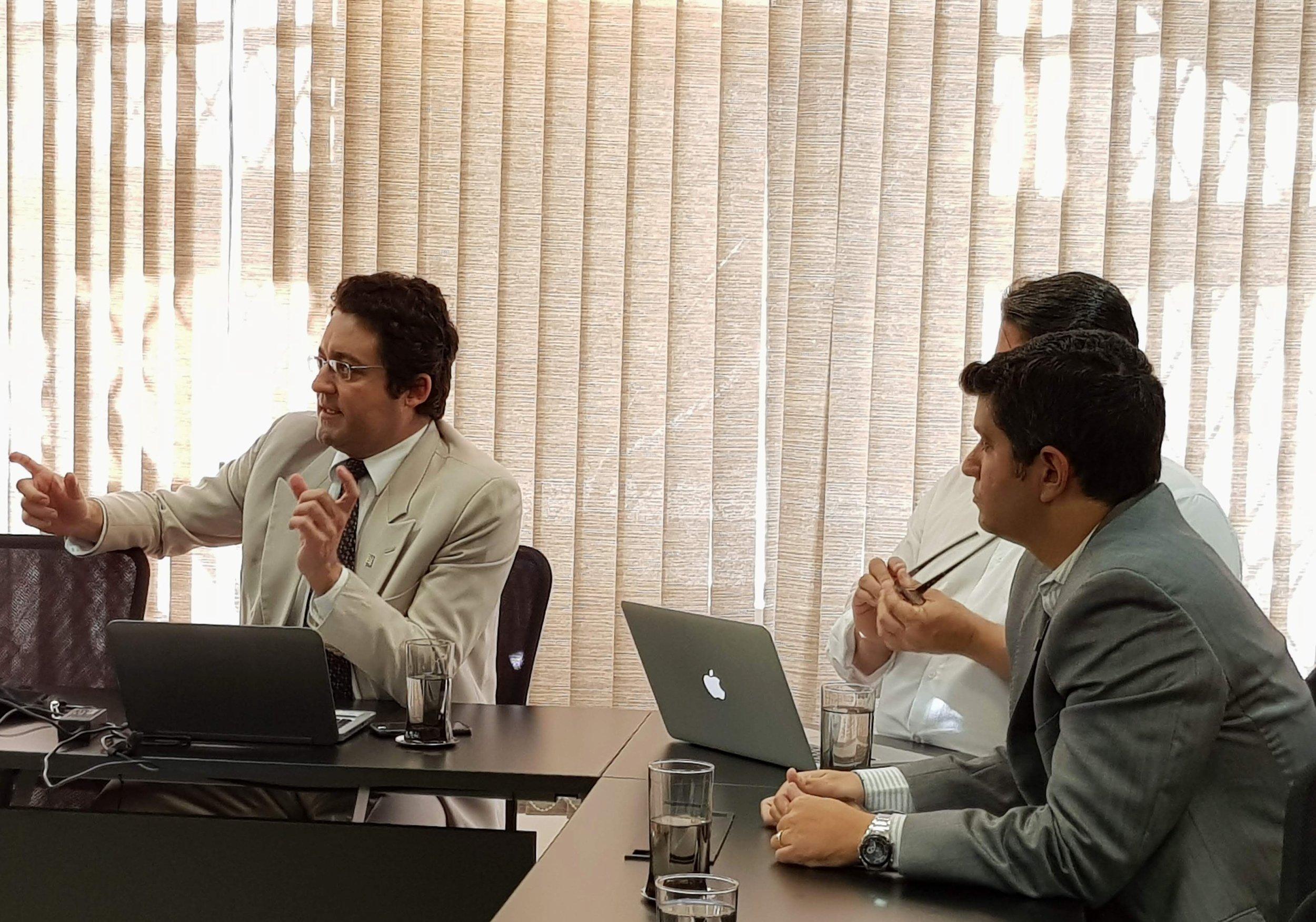 Alex Canuto, durante a reunião do Fonacate da última terça-feira