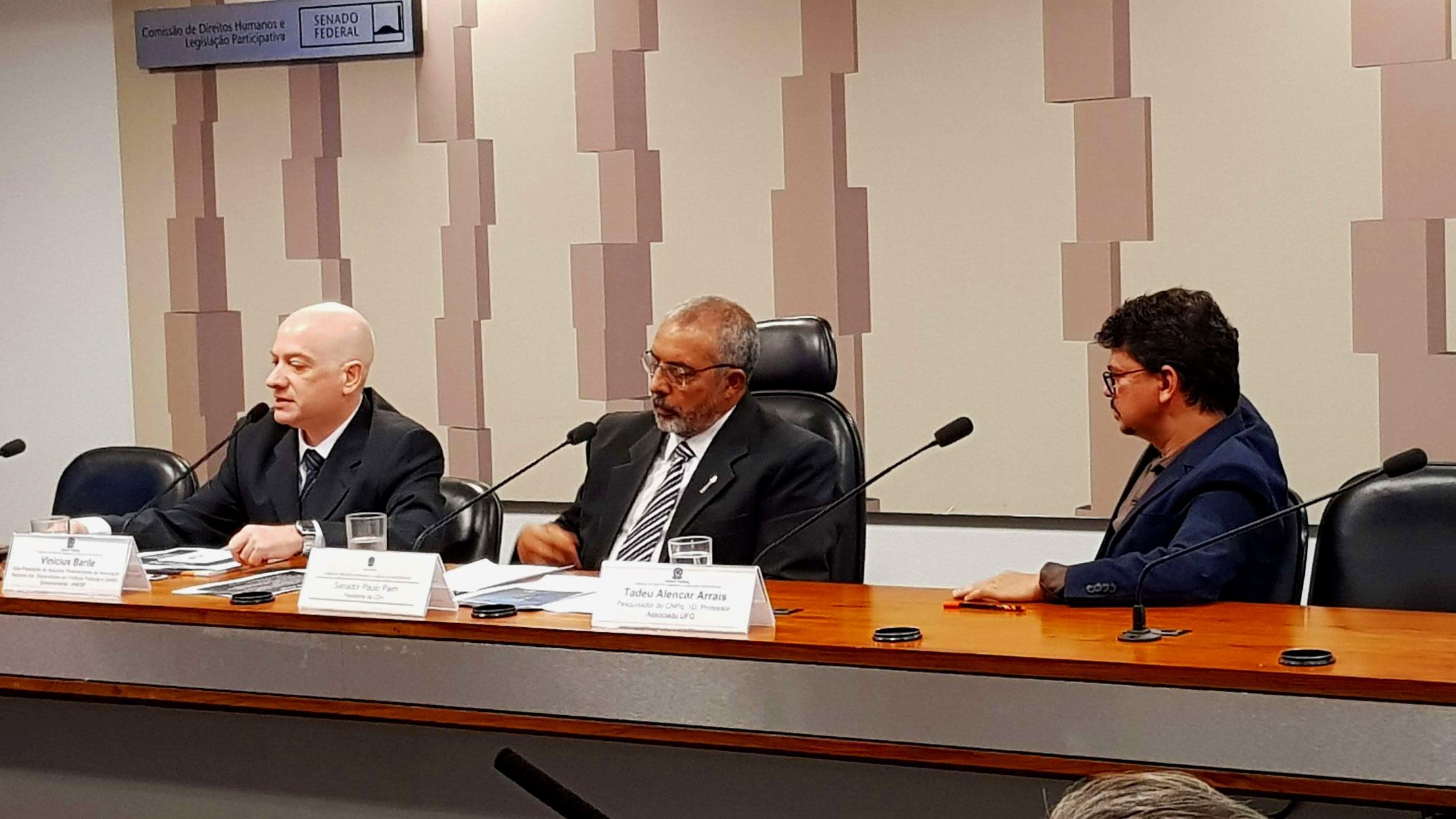 ANESP participou de audiência pública promovida pelo Senador Paulo Paim