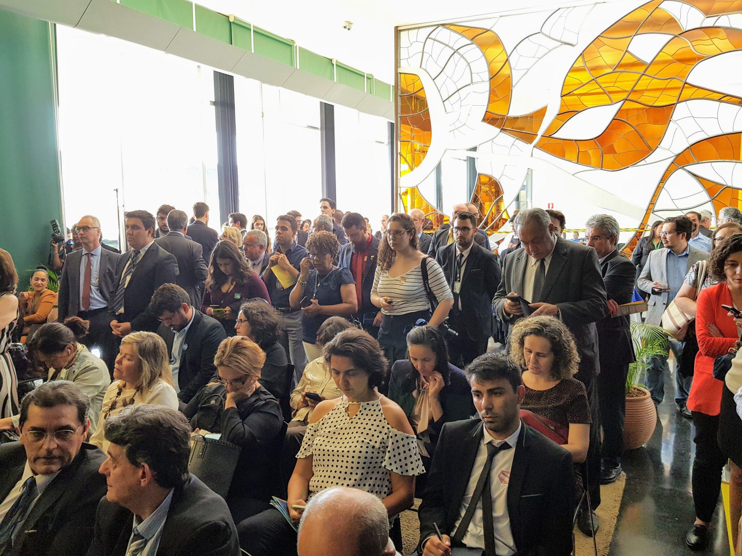 Lançamento da Frente reuniu grande número de apoiadores