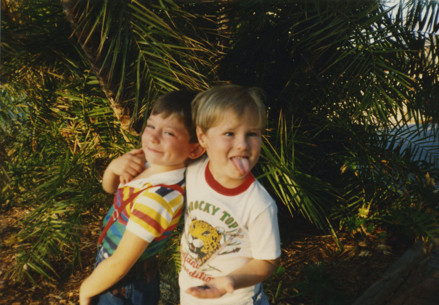 That's my big brother on the left. I'm the one sporting the jaguar t-shirt.