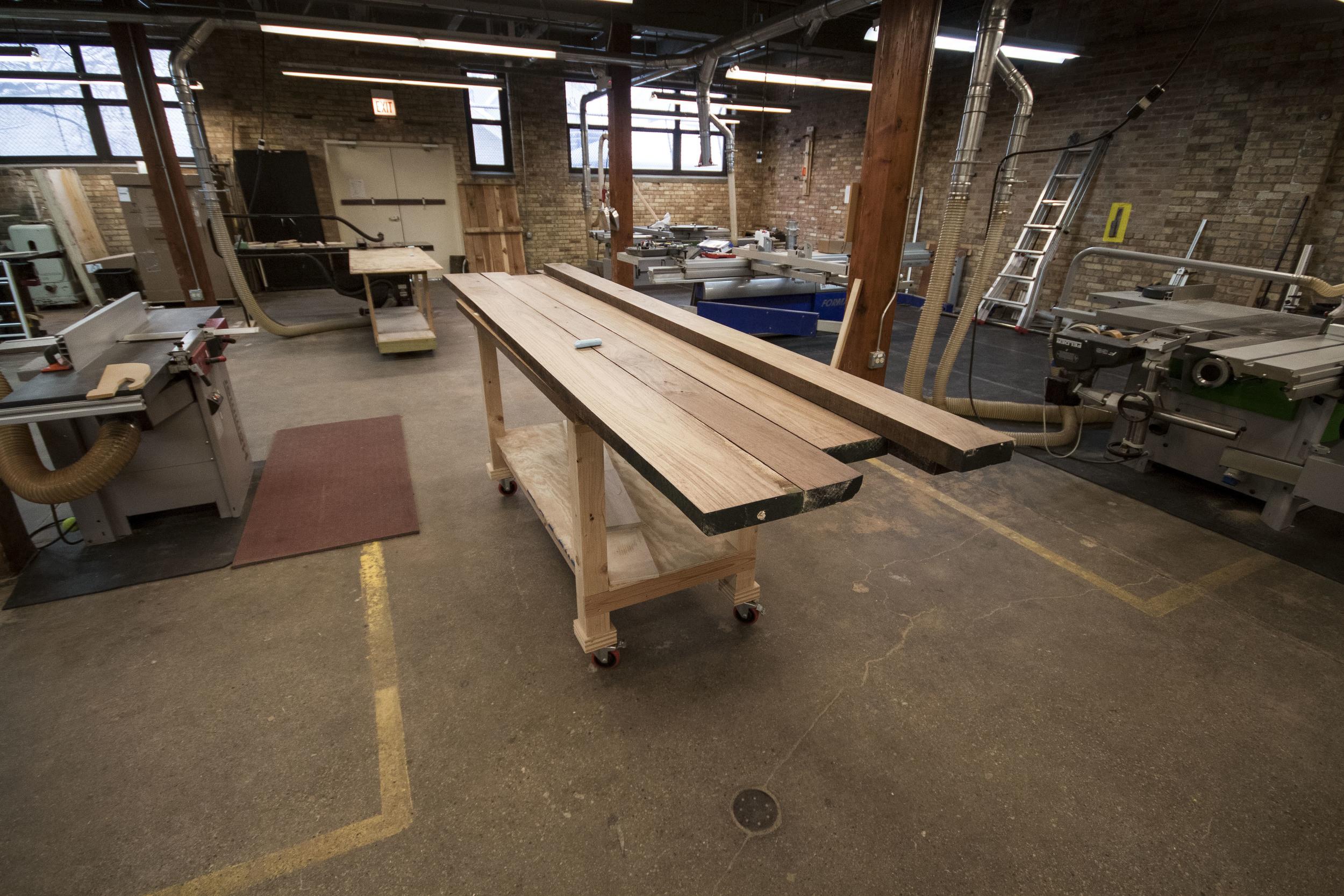 Raw lumber.