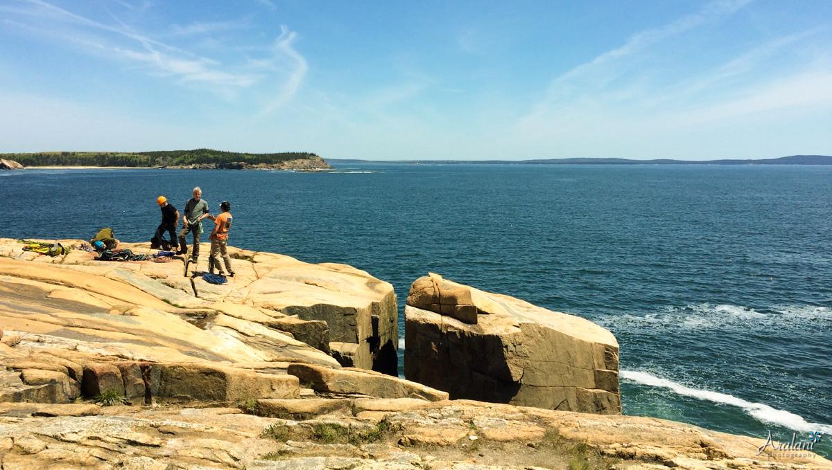 Rock Climbing on the Otter Cliffs