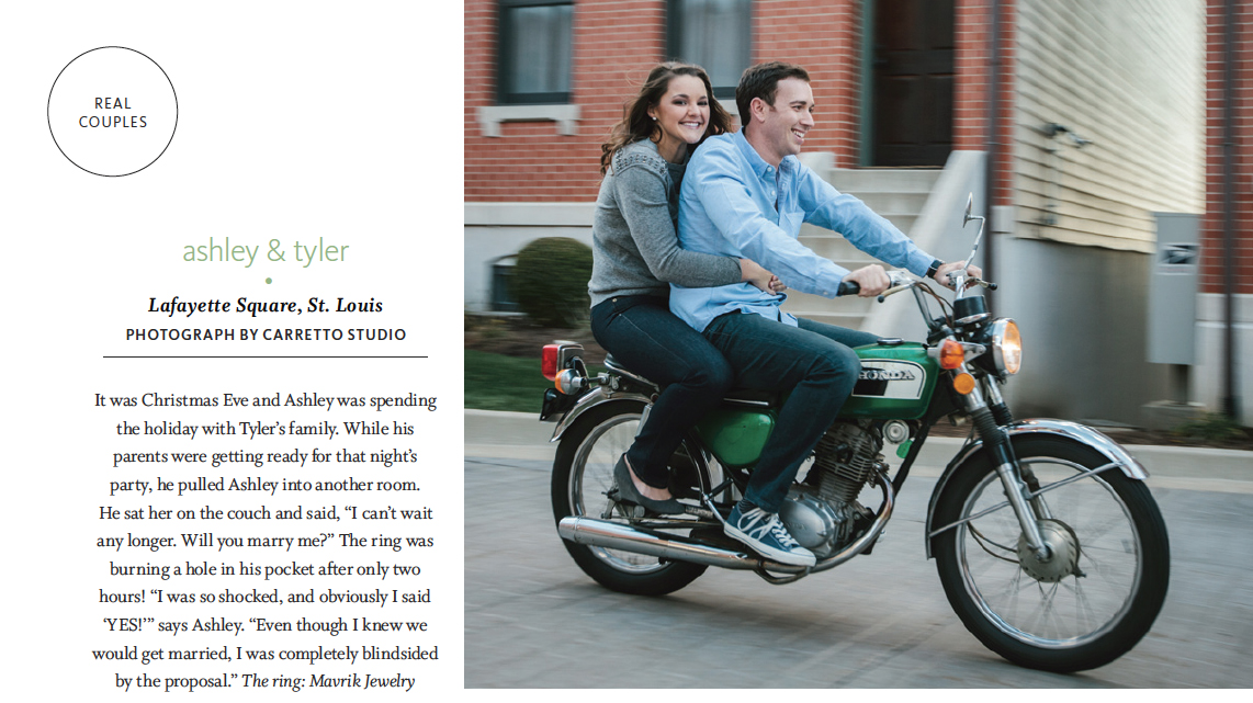 As seen in The Knot Magazine, Summer 2014.
