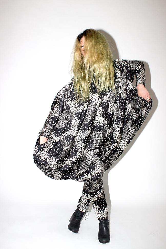 Photography by  Katy Shayne  - Model Kaidon Ho - Style Masha Poloskova - VINTAGE 80s Silk Jumpsuit - ShoesLD Tuttle