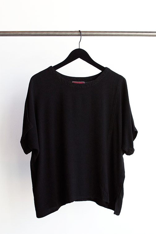 "TIENDA HO  ""Taznakte"" Top in Black $90 - O/S    *also available in ink and clay"