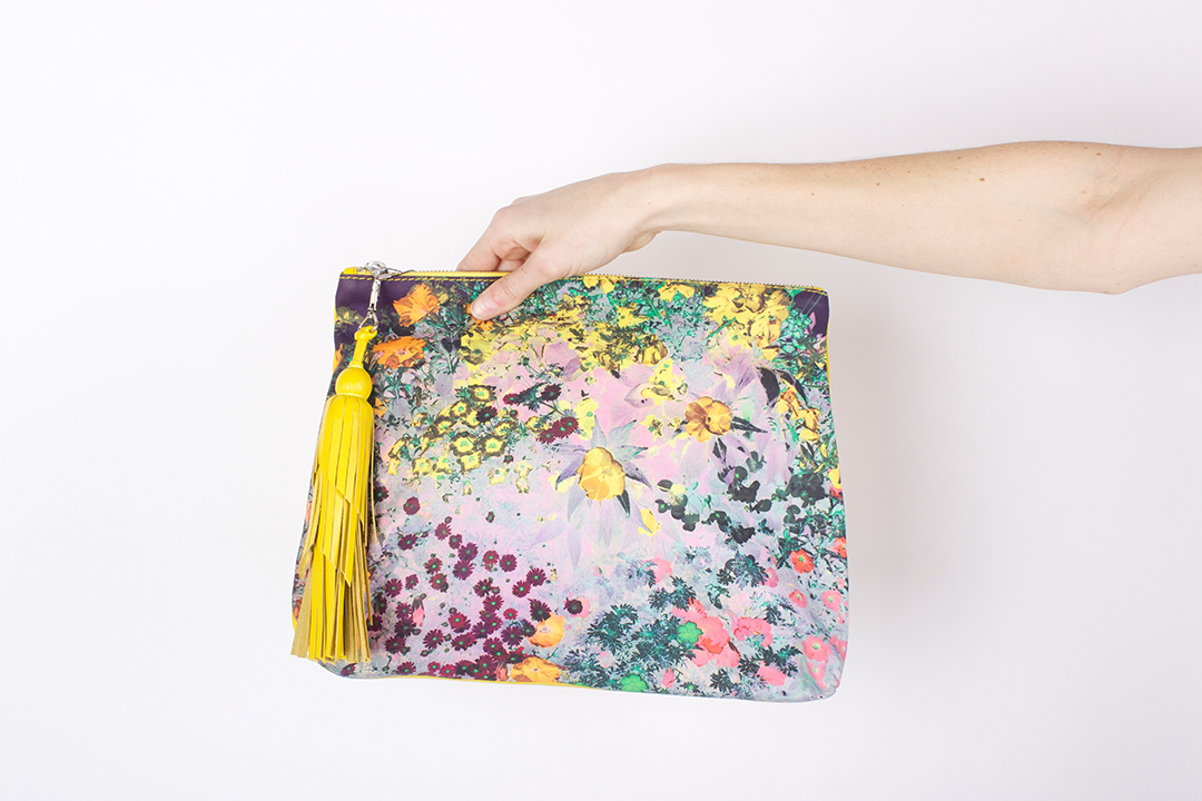 ZUBI Large Pouch in Leather with Leather Tassel - $385