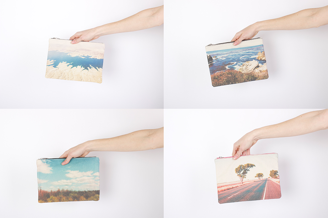 ZUBI Midi Canvas and Leather Clutches - $185 Each