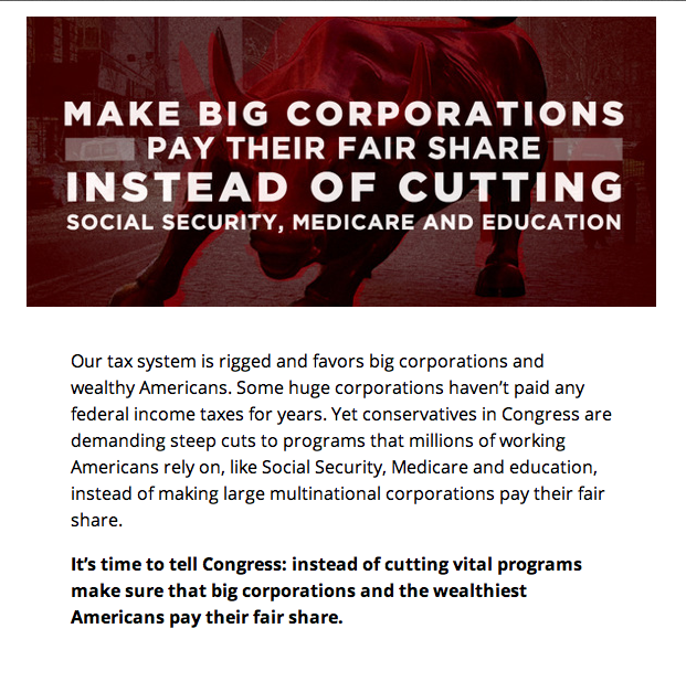 make corps pay their share