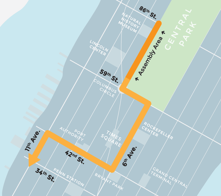 Route for Peoples Climate March