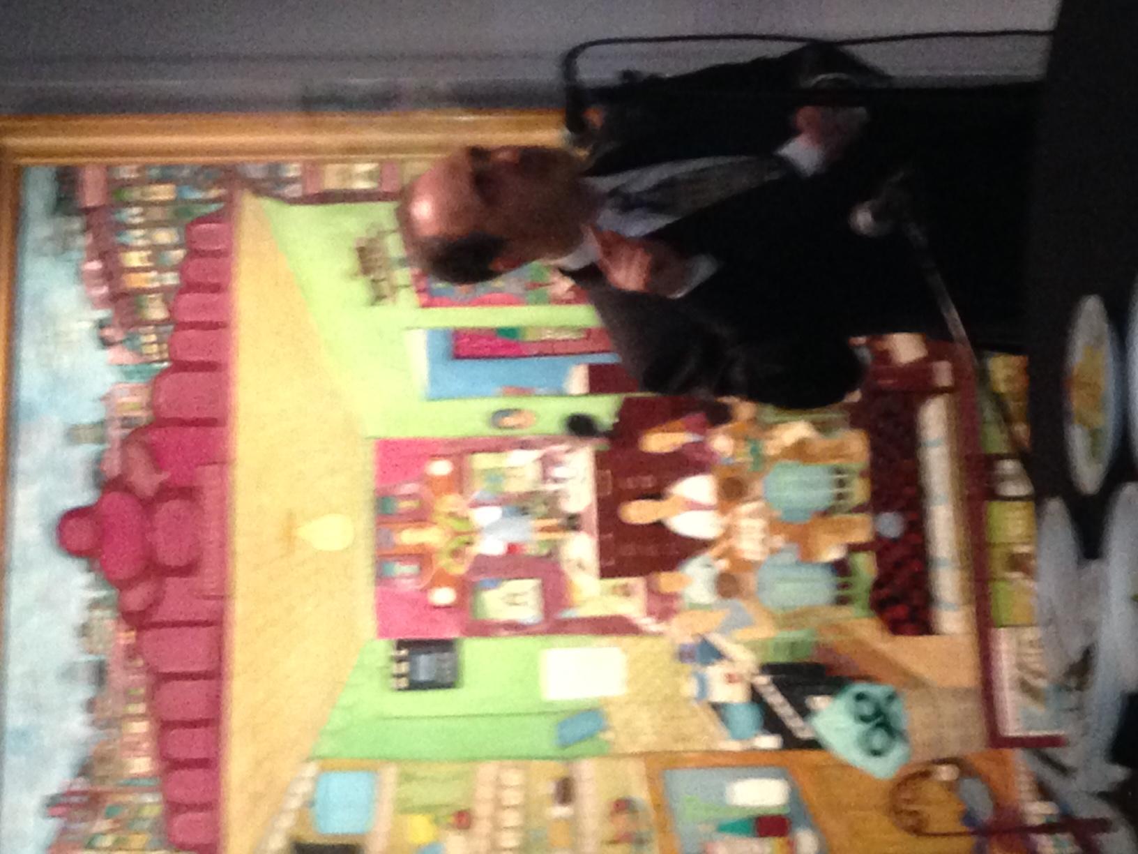 Vinny Alvarez at Ralph Fasanella exhibit