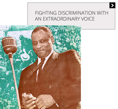 Acclaimed singer and civil rights leader Paul Robeson spent a lifetime fighting racial discrimination, and he developed a deep connection to the National Maritime Union's fight to integrate America's ships. Listen to recordings of some of his songs, and a story about his experiences aboard one ship.   Learn More