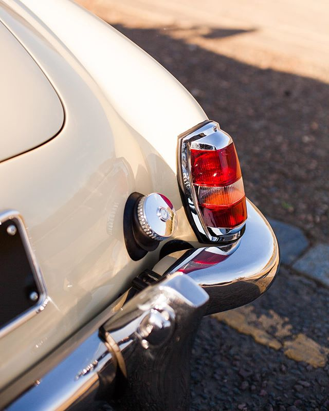 Chrome on chrome on chrome! Beautiful evening light on the back of the 190SL!