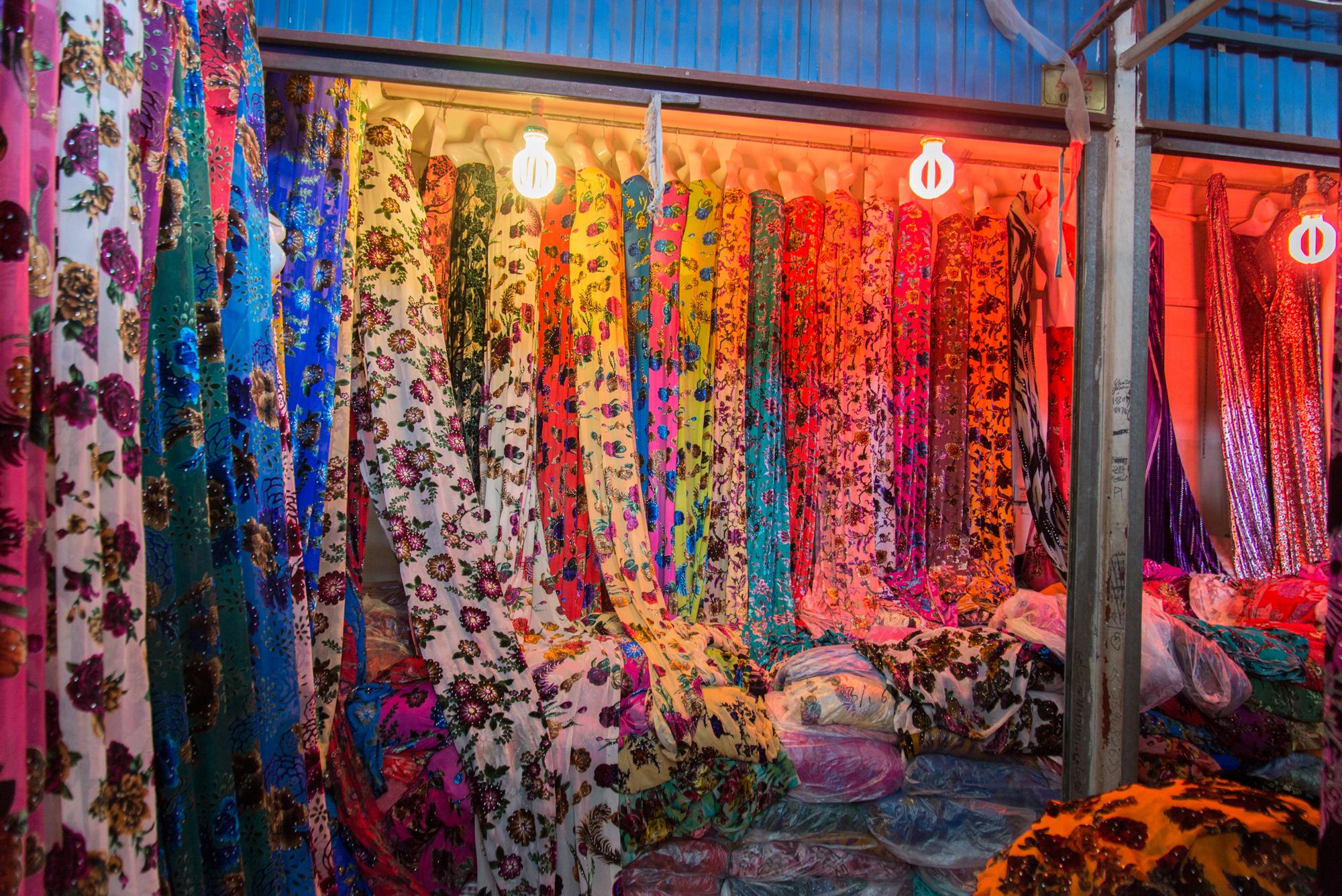 Fabric Store, Kashgar Bazaar
