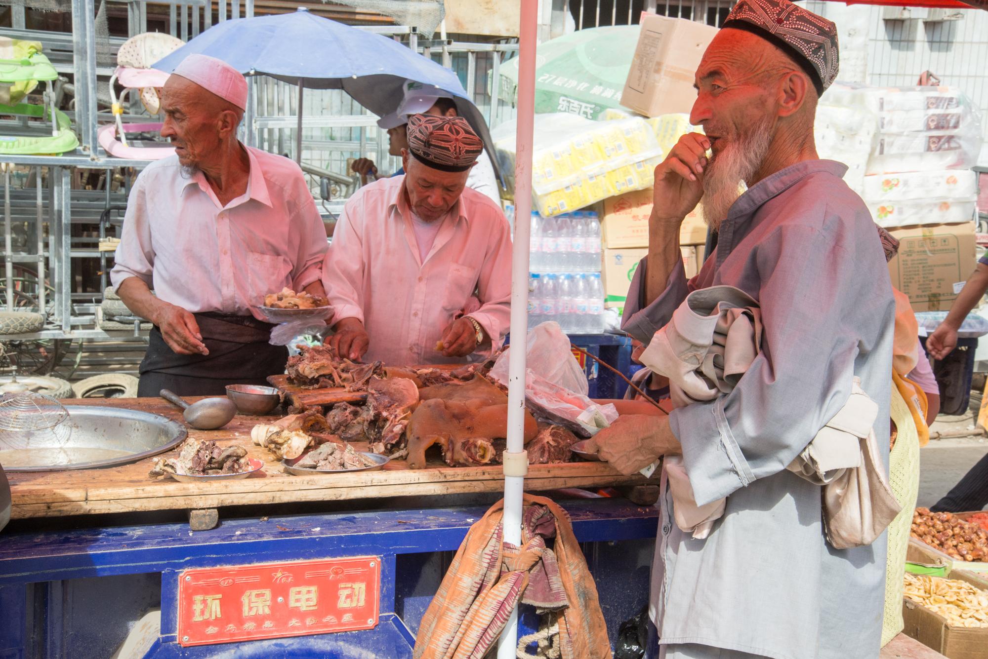Lamb BBQ Stand, Kashgar Bazaar