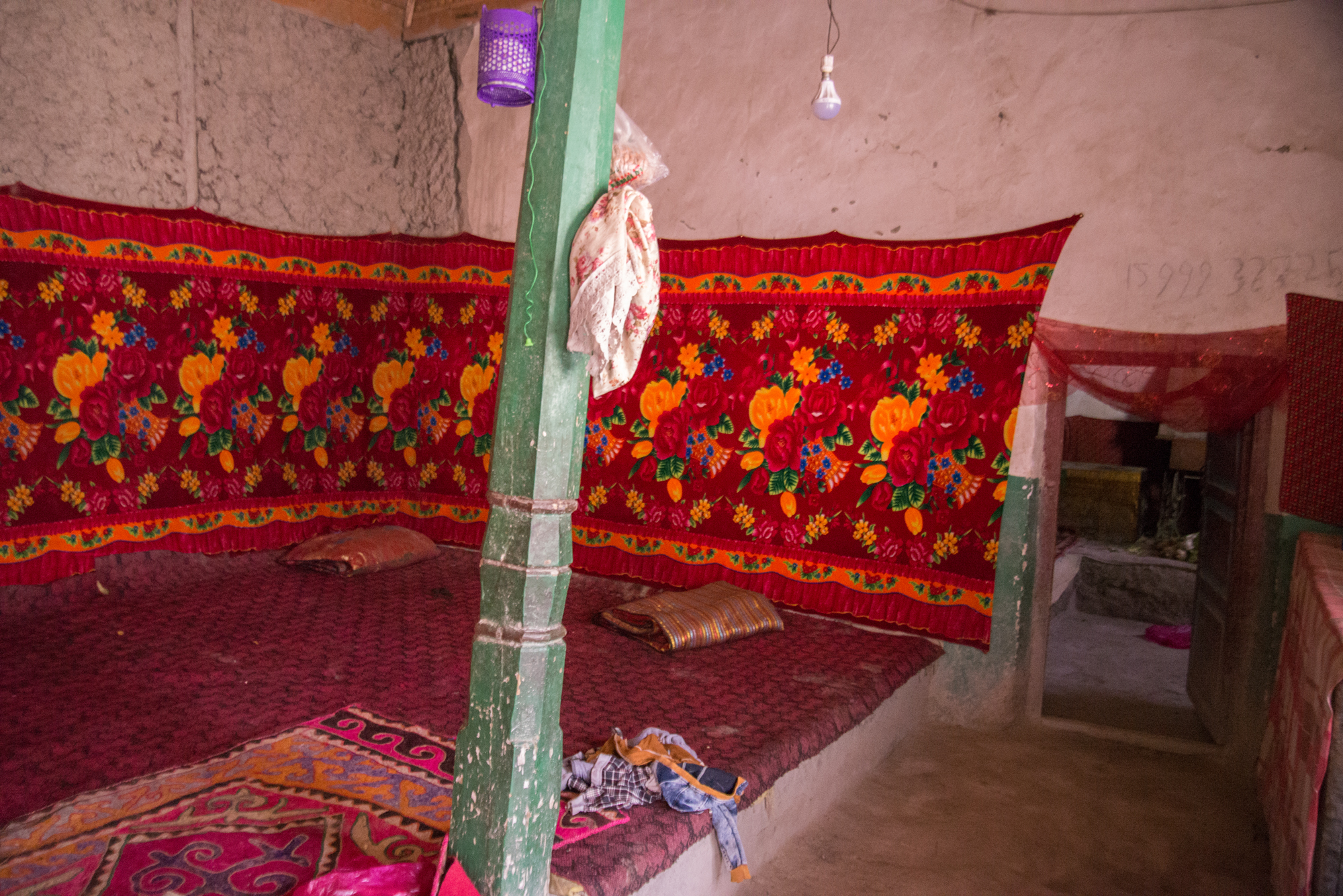 Uygur Sleeping Loft near Kashgar China