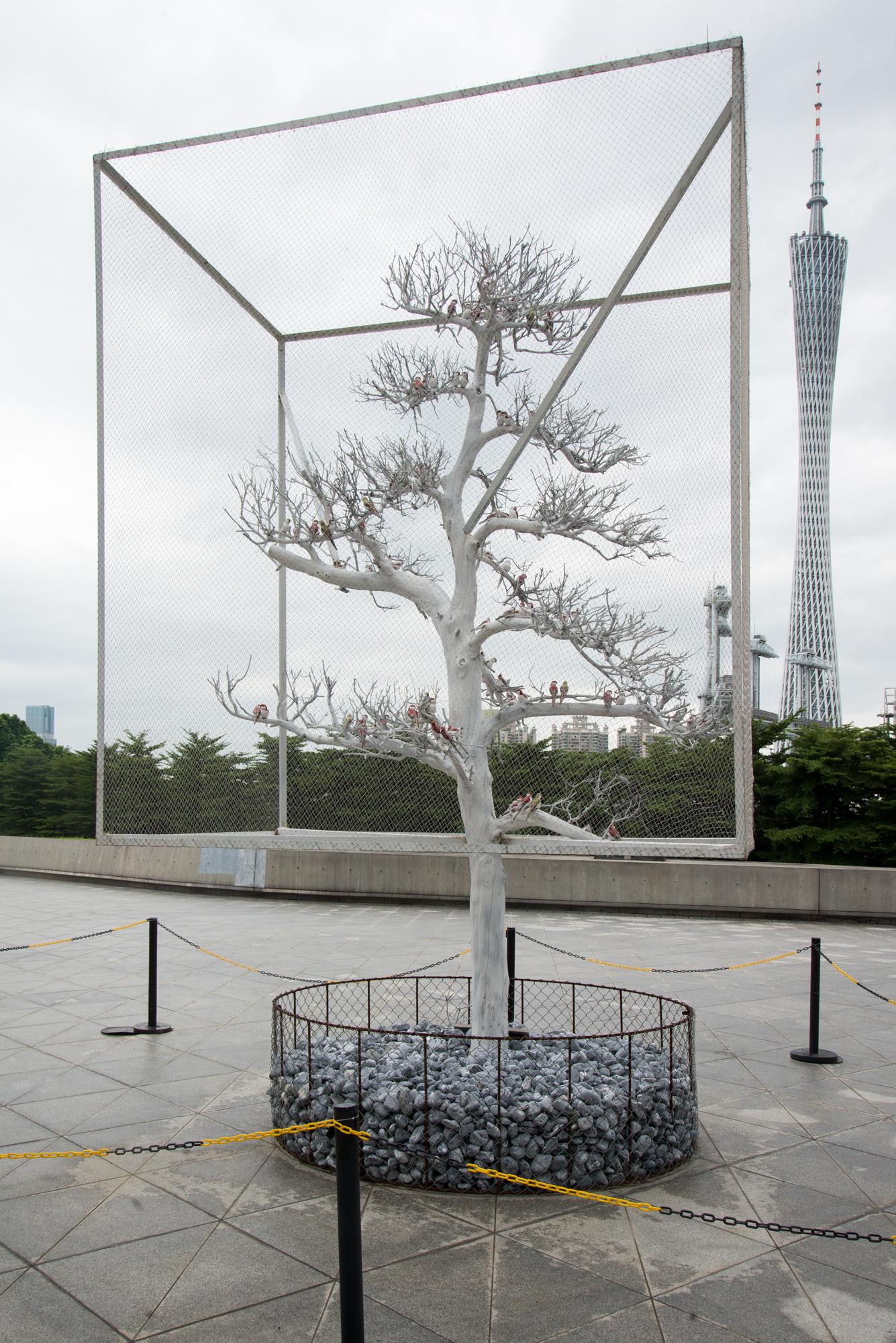 Sculpture near Guangzhao Opera House