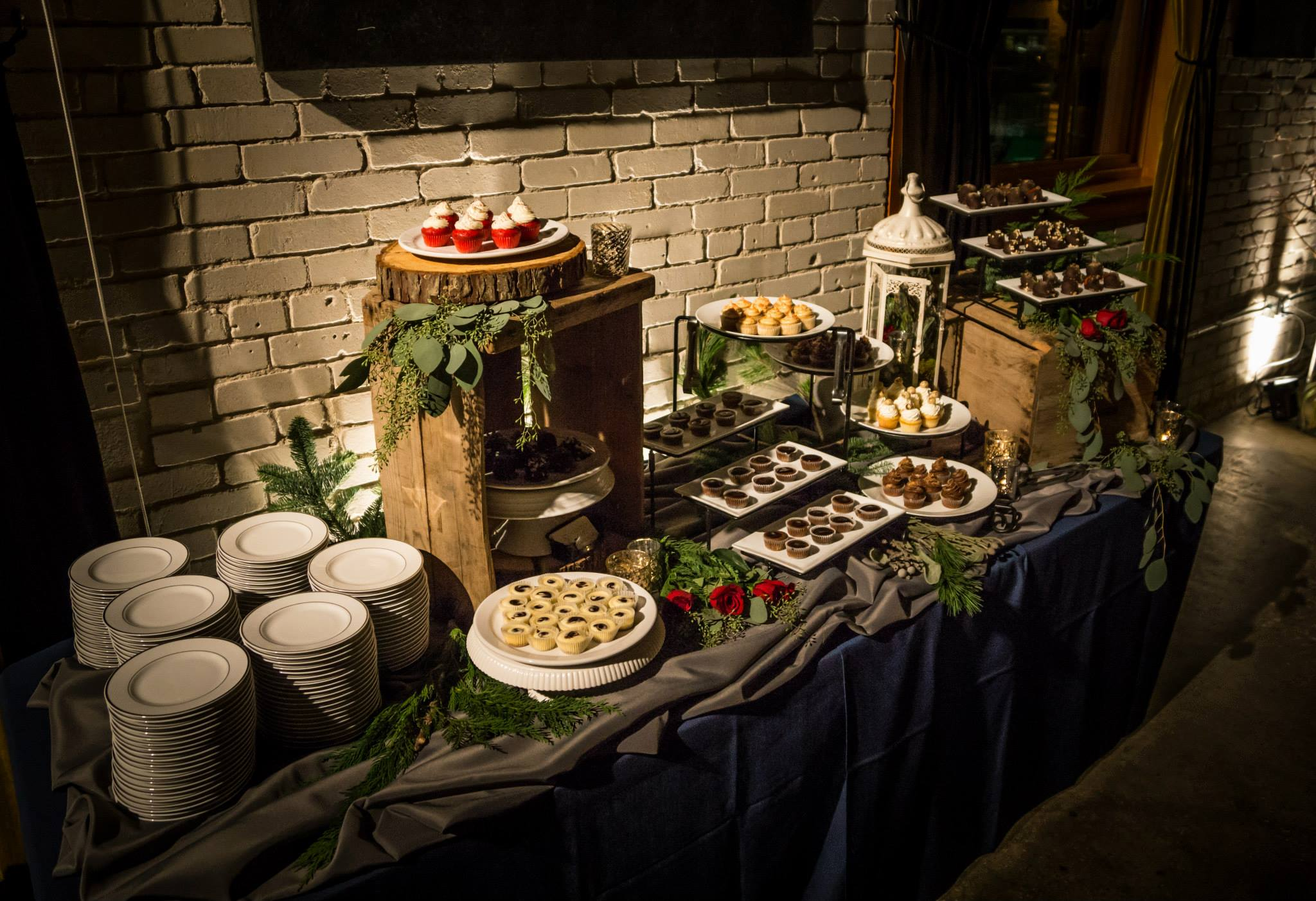 Mercury Votives, Live Greenery and Lantern  provided by Professional Event Coordinator