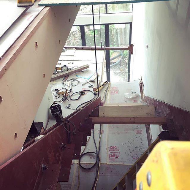 #floatingstairs #hangingstairs #steelstairs roughed-in