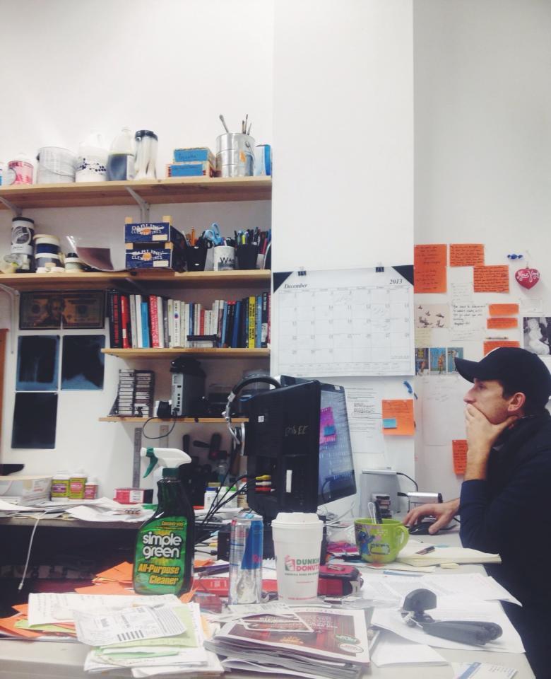 In the physical studio. Photo by  Vina Sananikone .