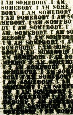 Glenn Ligon -  I Am Somebody,  oil stick on canvas, 1991