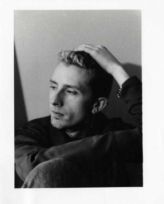 "Artifact #3 - Portrait of the artist in Spring 2002, taken by boyfriend; 8"" x 10"" hand-developed."