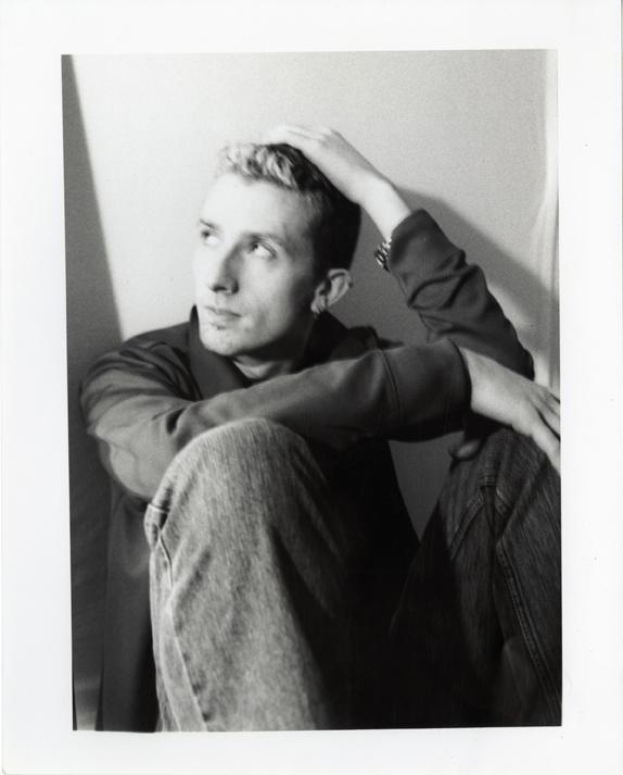 "Artifact #2 - Portrait of the artist in Spring 2002, taken by boyfriend; 8"" x 10"" hand-developed."