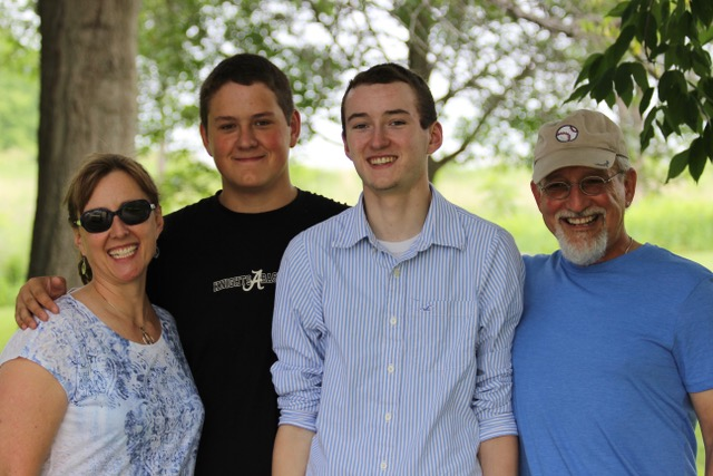 Lora, Connor, and Donovan McClelland and Michael Simmons