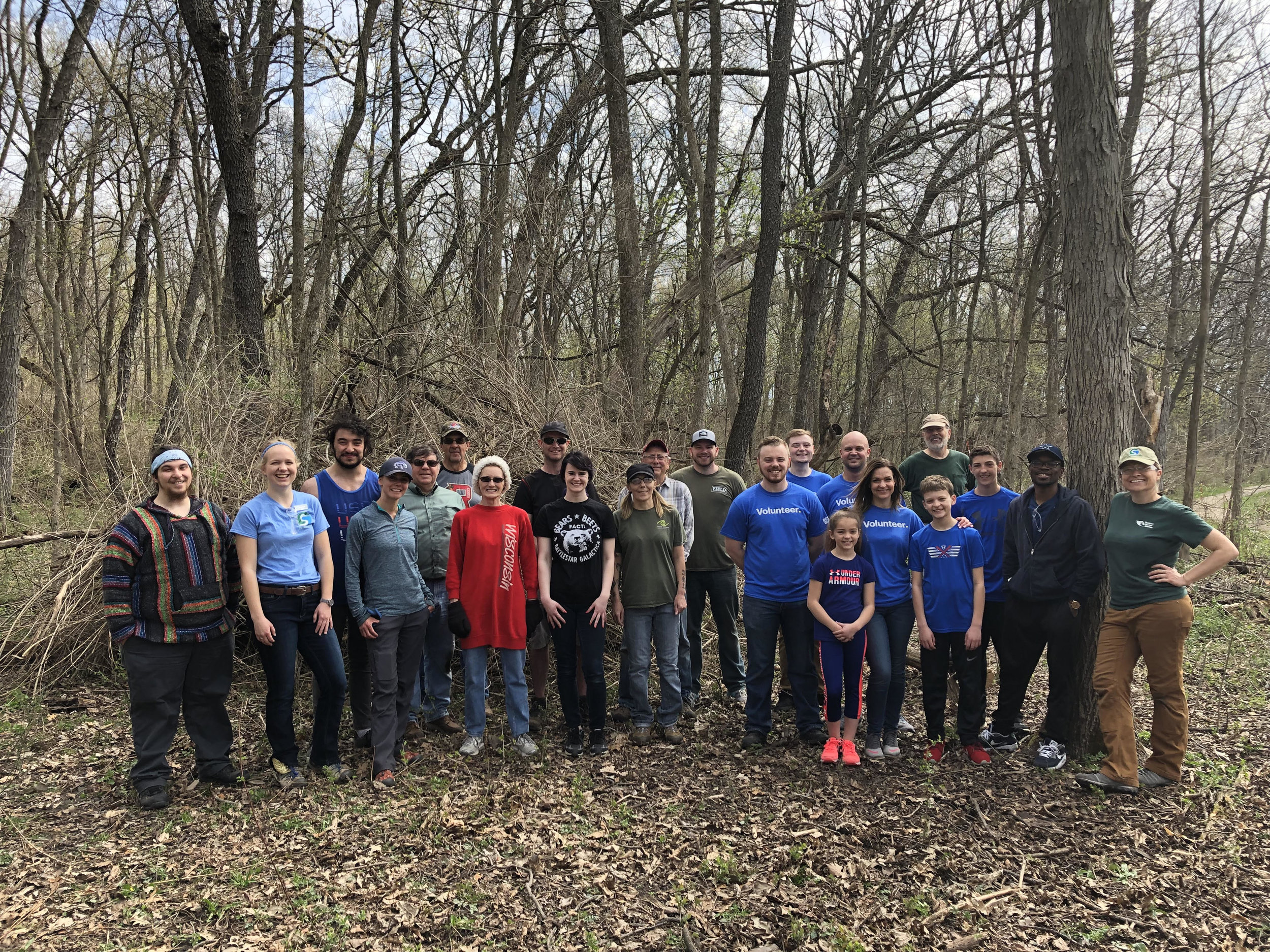 Our Conservation crew at the earth day restoration workday