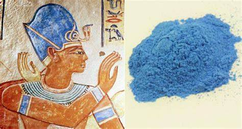 Egyptian Blue, a pigment created by heating azurite and other substances