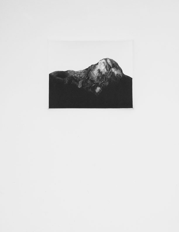 """A range, Arranged,  Monotype, 11""""x15"""", 2011"""