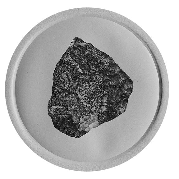 """Eastern Sierra stone , Monotype, 6""""x6"""" 2014"""