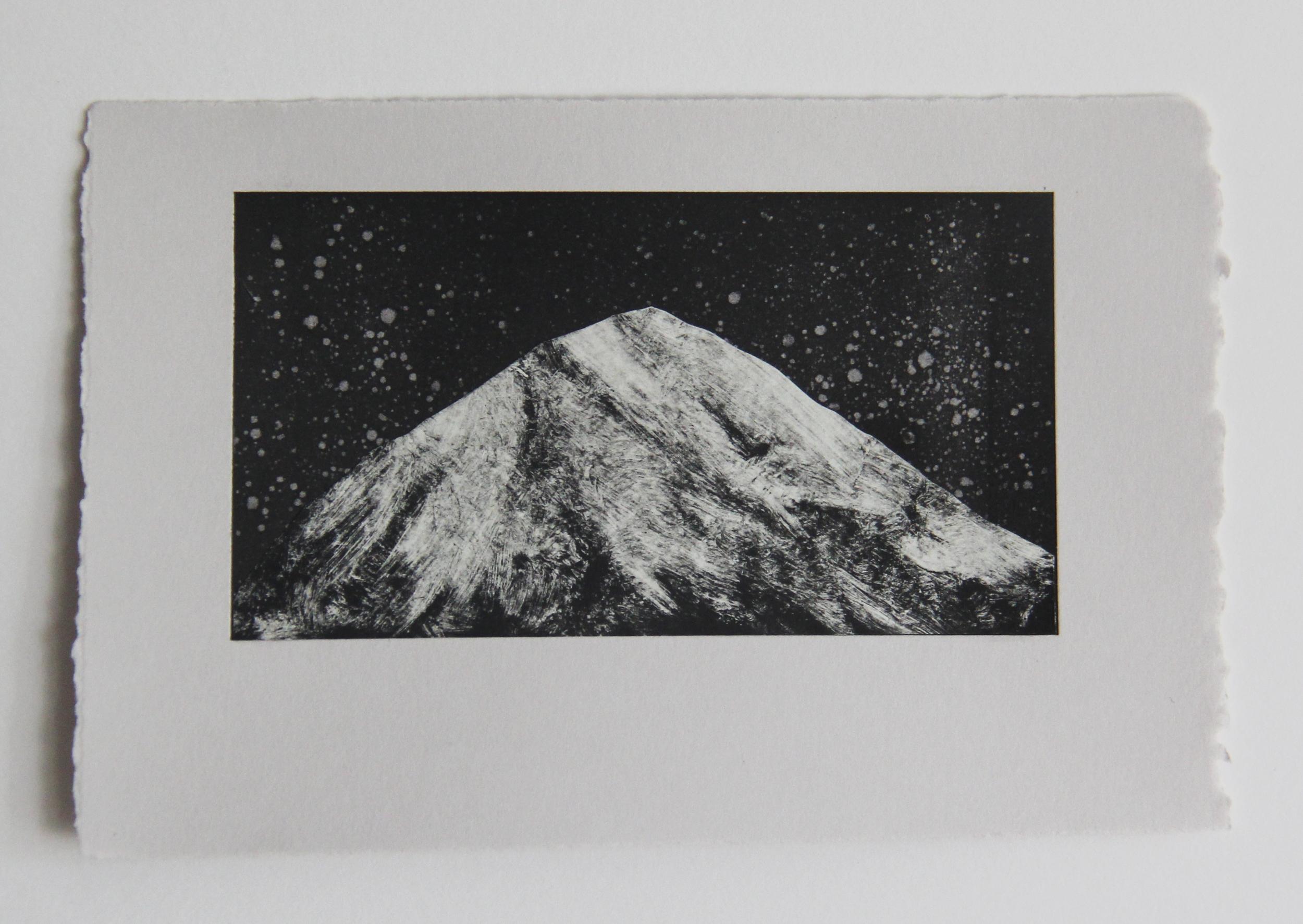 """Seven Pines, CA  Monotype 4""""x7""""2015"""