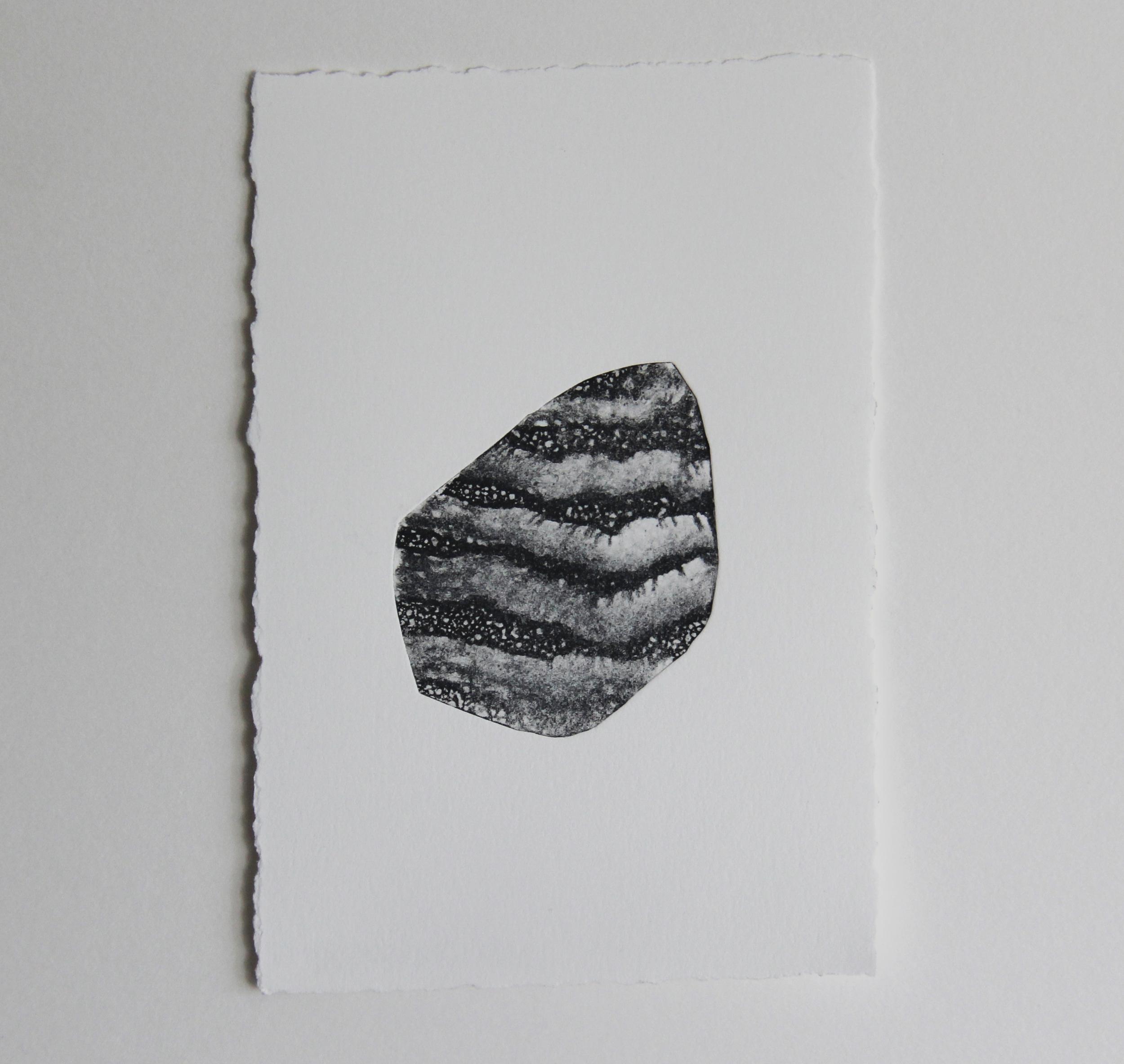 """S Oak Creek Rd  Monotype 4""""x6"""" 2015"""