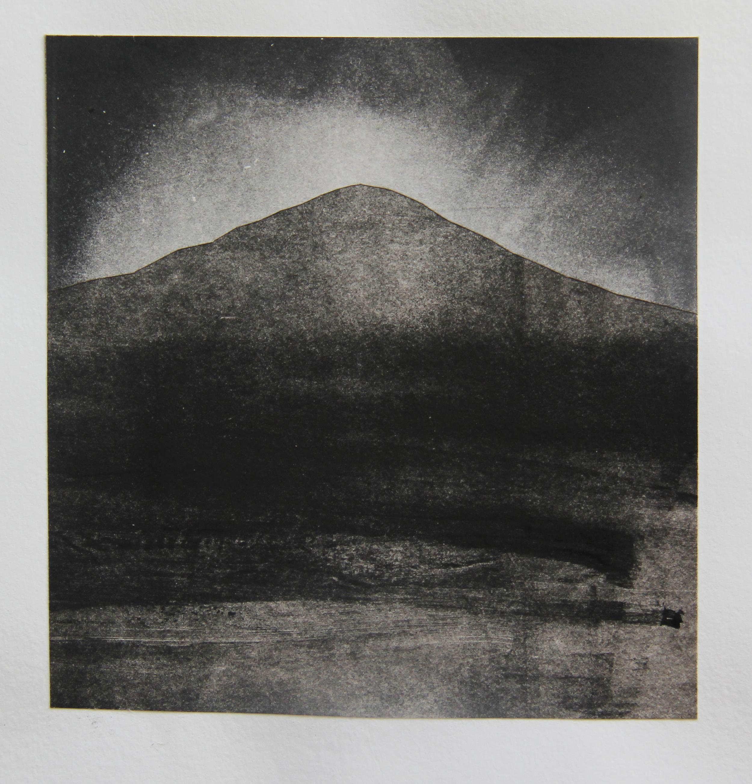 """Striped Mountain, CA  Monotype 11""""x14"""" 2015"""