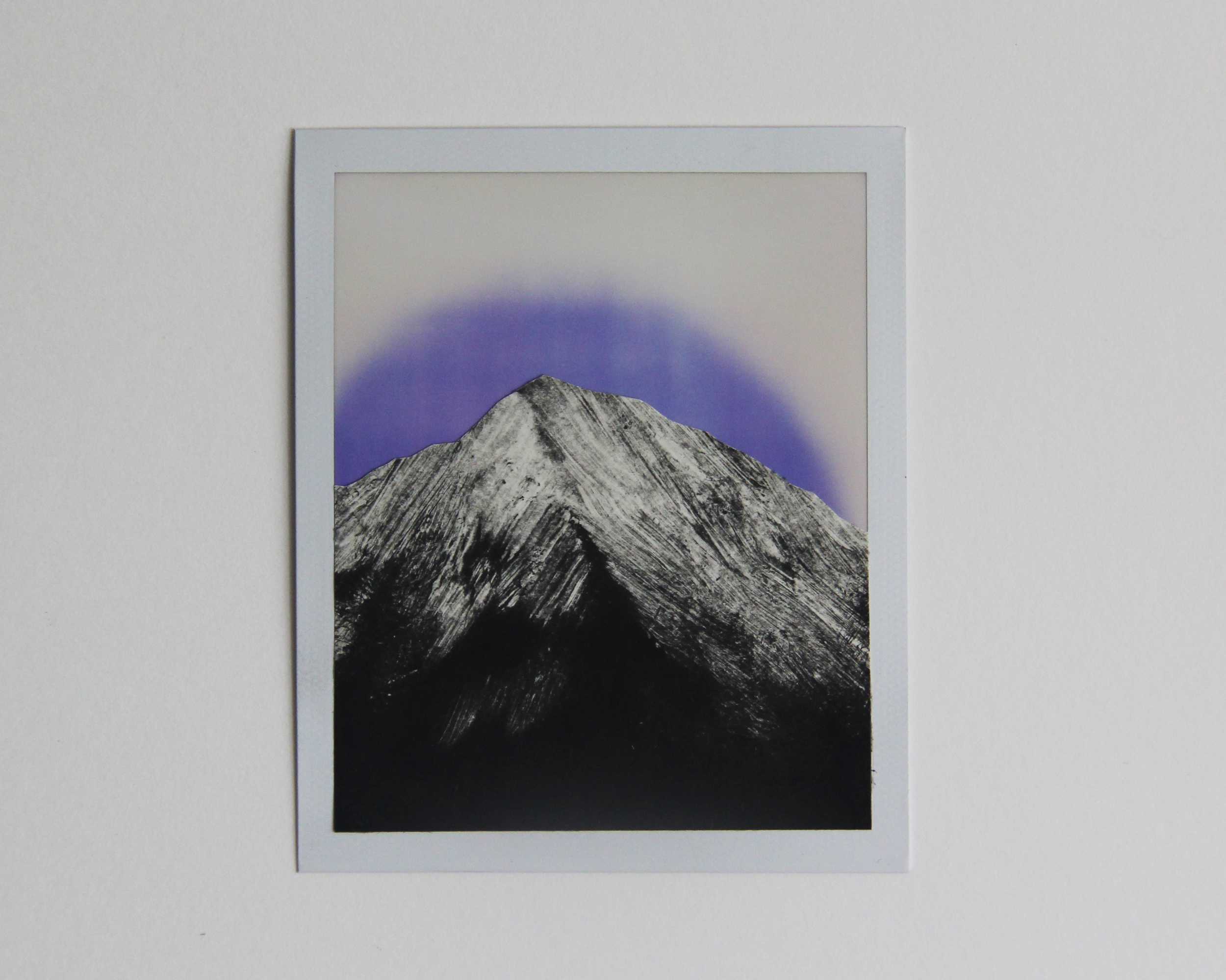 Rainbow Mountain, CA Monotype/Polaroid Instant Print  3    1/2 x 4 1/4 2015