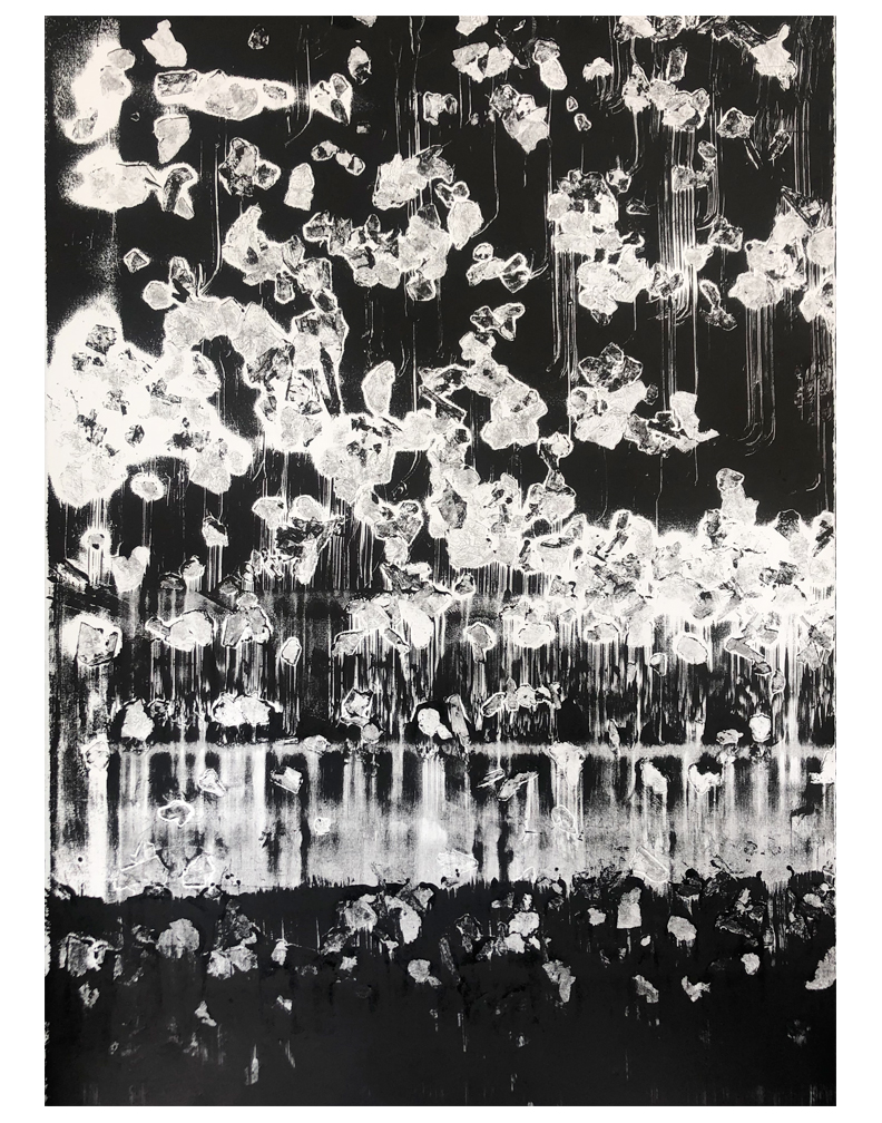 """Monotype print made on a Lithographic press, 22""""x30"""" 2018"""