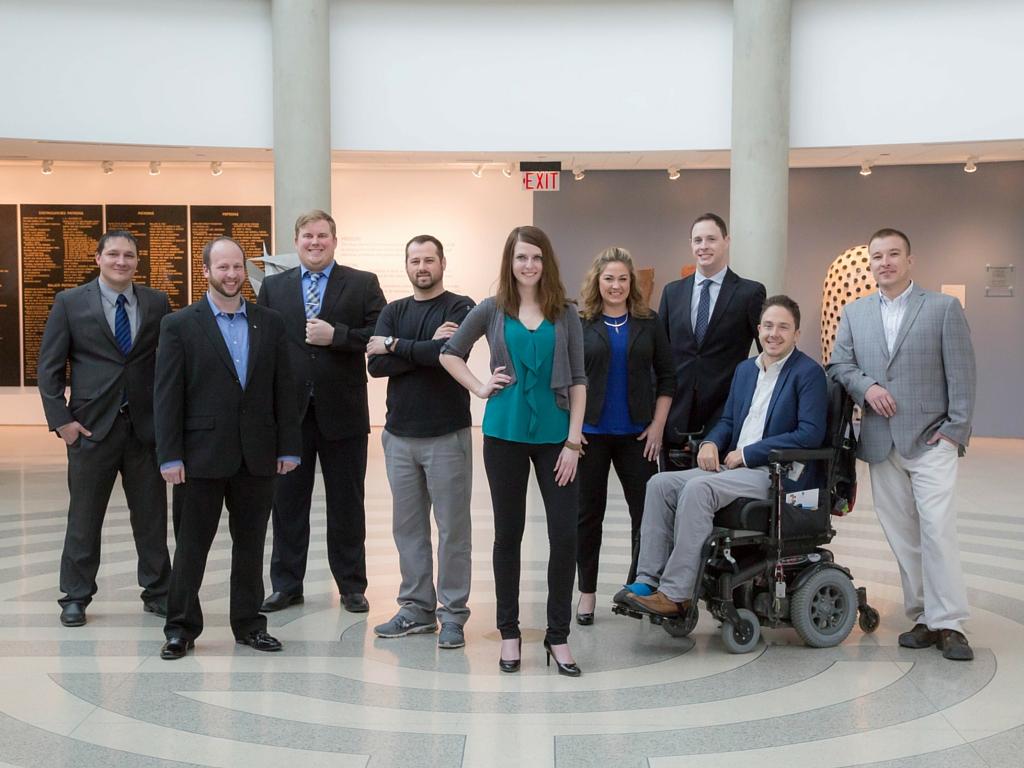 Left to right: Rocky Welker, Rick Samuelson, David Brockshus, Cole Hoff, Britney Sininger, Jennifer Bower, Chris Jackson, Alex Watters, and Nick Rol