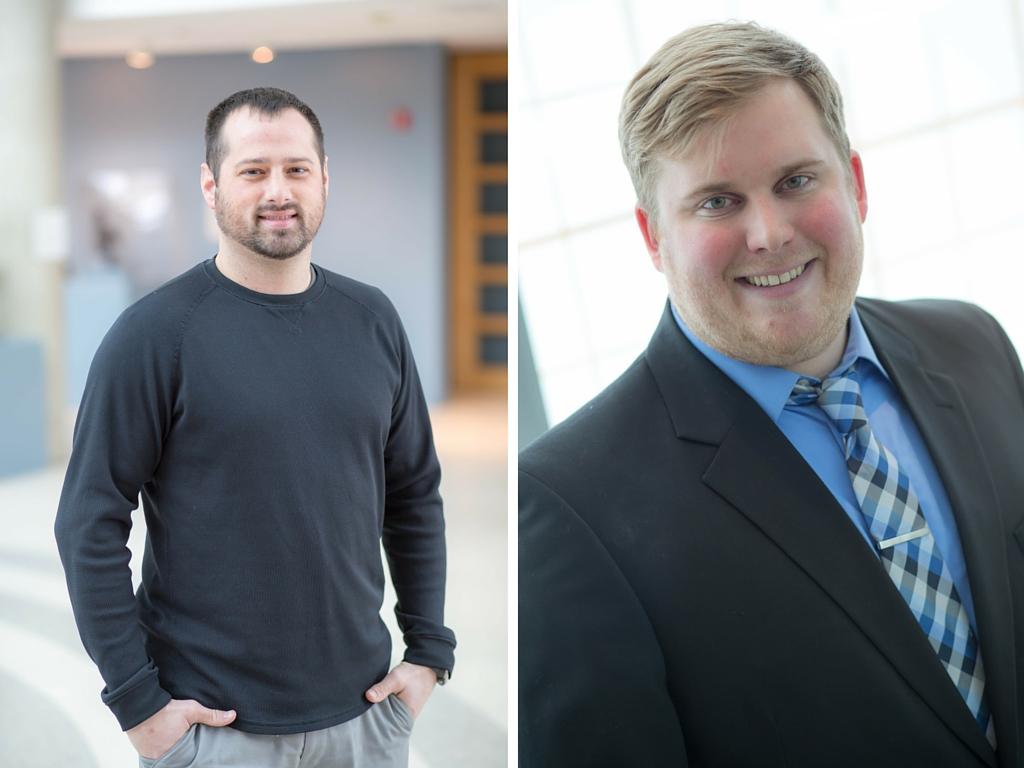Treasurer Cole Hoff and Secretary David Brockshus