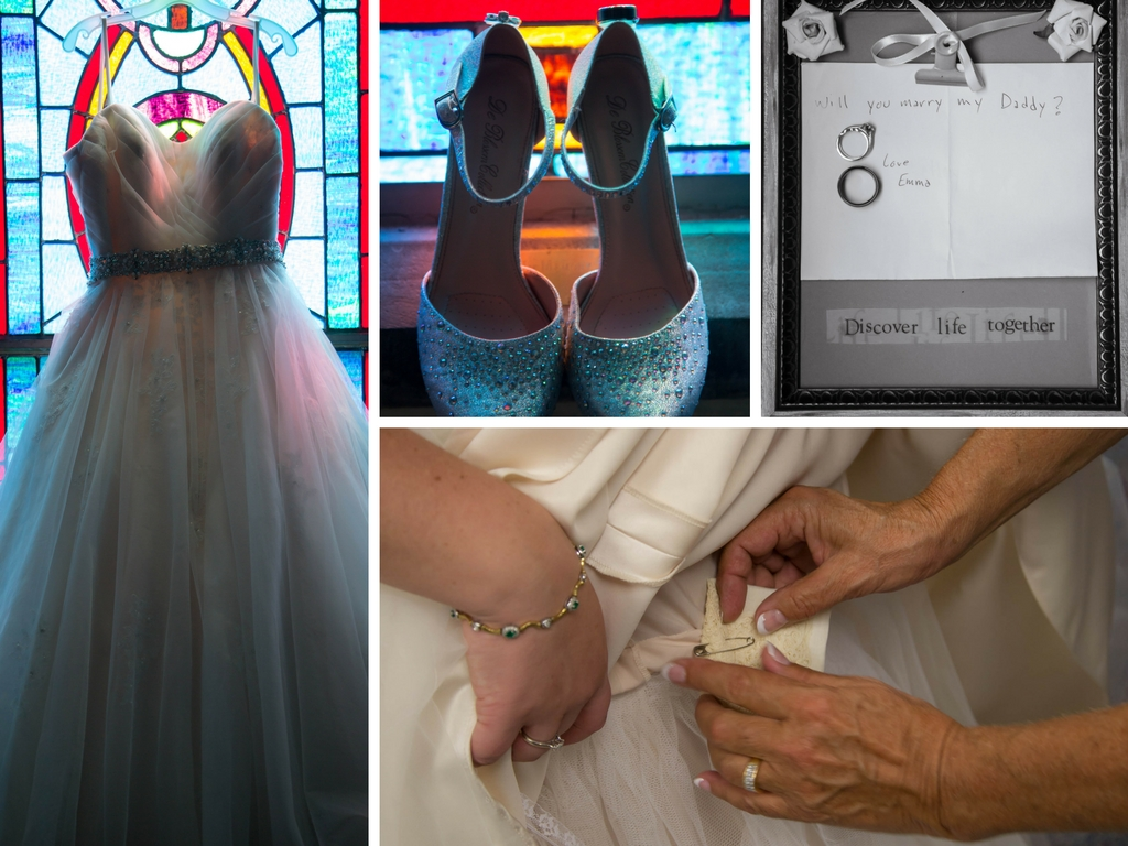 Sweet proposal notes and family heirlooms rounded out the darling details.