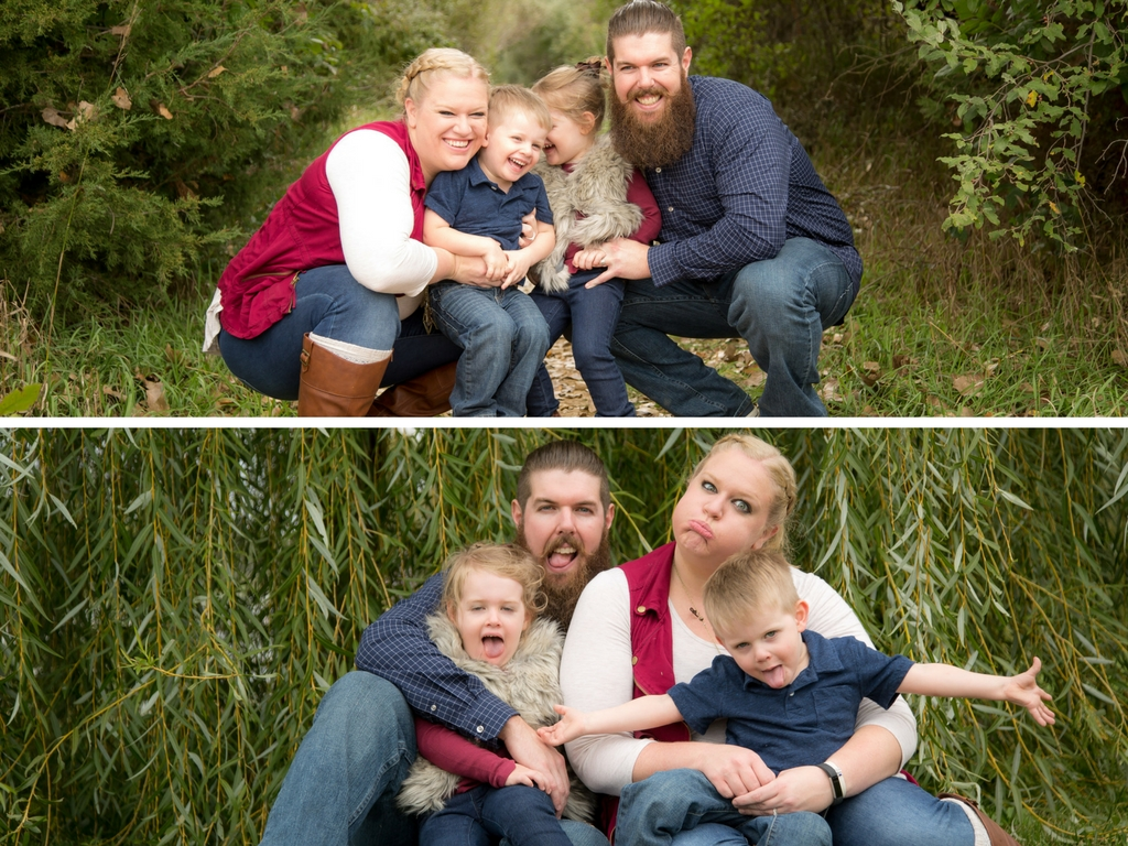 The Funny Face Force is strong in this family.