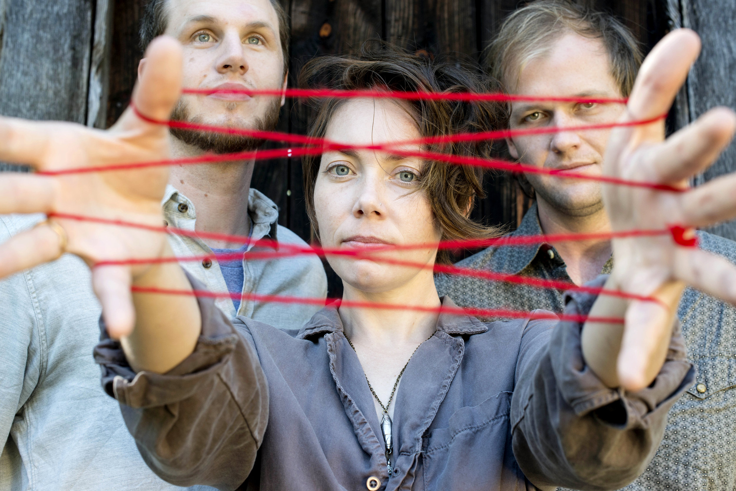 Mount Moriah is Jenks Miller (left), Heather McEntire (center) and Casey Toll (drums).  They play The Evening Muse on Thursday, November 10th.  Photo courtesy of Merge Records.