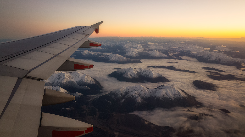 Flight back to Australia