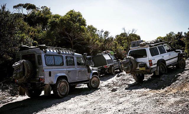 Tassie crew 🤙  #Defender110 #LandCruiser79 #LandCruiser80