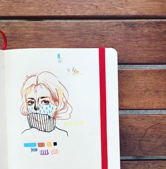 Day 2/30 ☔️ #30daychallenge #day2 #poscamarkers #30daysofdoodles #doodle #illustration #sketch #hanueldraws