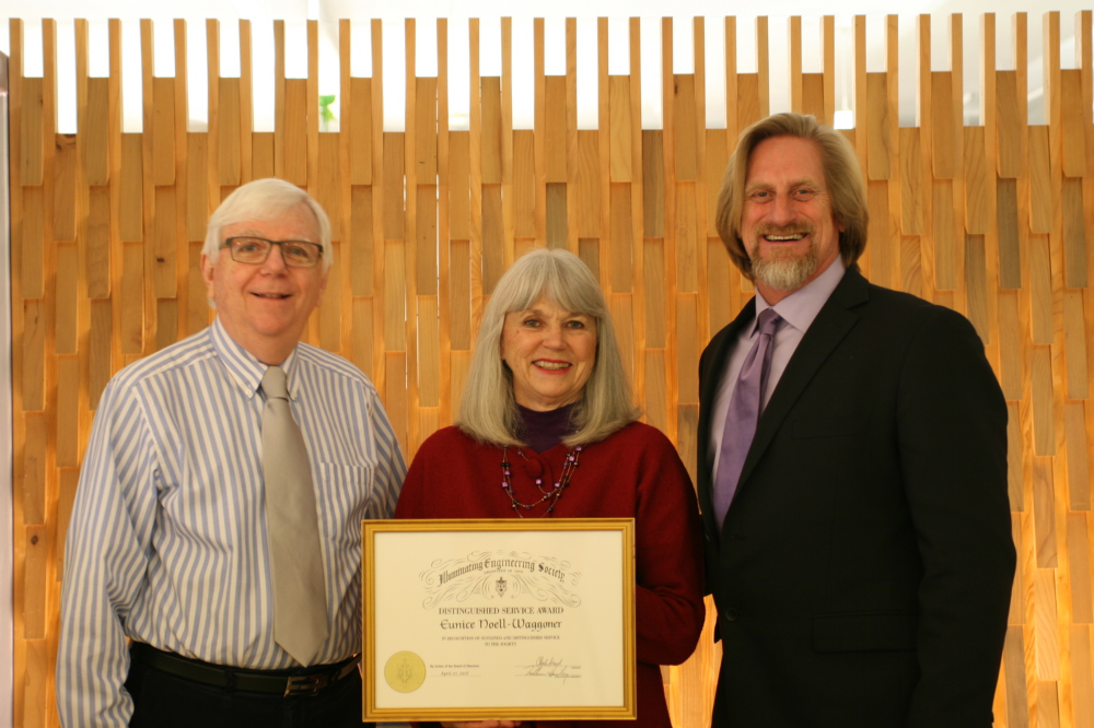 Robert Dupuy, Board of Managers IES Oregon, Eunice Noell-Waggoner and Doug Carpenter, President IES Oregon