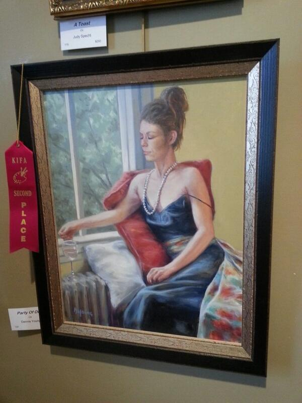 Party of One by Dennis Young (Second Place in Oil)